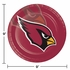 Red and black Arizona Cardinals Dinner Plates are sold 8 / pkg, 12 pkgs / case