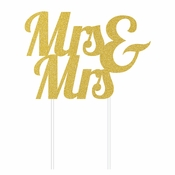 Mrs. and Mrs. Cake Toppers 12 ct