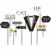 Mr. and Mr. Photo Booth Props 60 ct