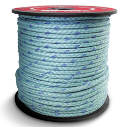 "Continental Western 7/8"" x 600' Reel 12 Strand Blue Steel Rope 402165"
