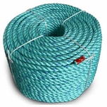 """Continental Western 2-1/4"""" x 600' Blue Steel Teal Rope Coils 402162"""