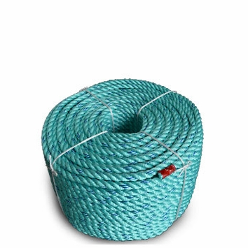 """Continental Western 2-1/4"""" x 300' Blue Steel Teal Rope Coils 402160"""