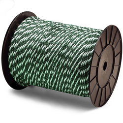 "Continental Western 1/4"" x 4000' Green/White Golf Barrier Rope 400025"