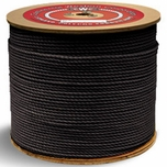 """Continental Western 1/4"""" x 2400' Black 3 Strand Polypro Rope 301067"""