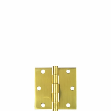"National Door Hinge Square Crn. Full Mortise 3-1/2"" 195685 (Pack of 5)"