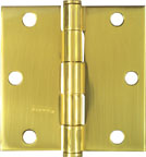 National Door Hinge Square Crn. Full Mortise 3-1/2 195685 (Pack of 5)
