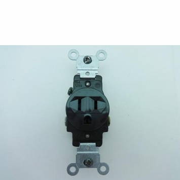 Leviton Brown Side Wired 15Amp 125V Single Receptacle 5015-SP