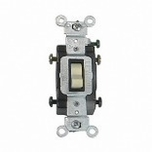 Leviton 15-A Heavy Duty Ivory 4-Way Toggle Switch 5504-2IS