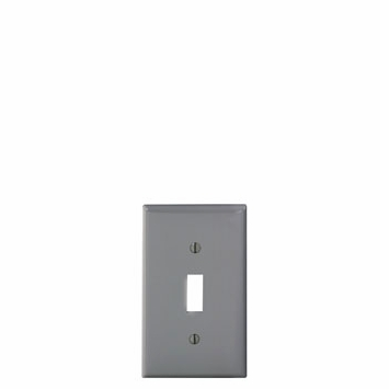 Leviton Gray 1 Gang Toggle WallPlate 80701-GY