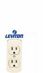 Leviton Ivory Double Surface Mount 3 Wire Duplex 15 Amp Outlet 91V