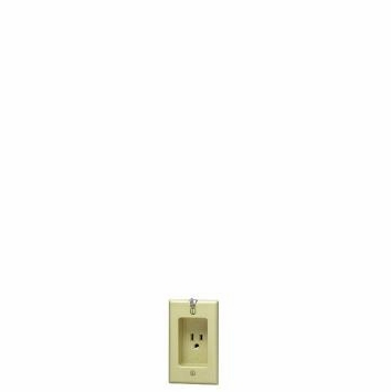 Leviton Single Receptacle Ivory Recessed Clock Outlet 688-V