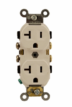 Leviton 20-Amp 3-Wire Commercial Duplex Receptacle White 5800-WSP
