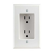 Leviton 1-Gang White Recessed Duplex Receptacle Clock Outlet 689-W