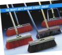 "Bruske 18"" Brown Street Broom W/ Wood Handle (Pack of 6) 3789"