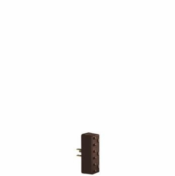 Leviton Three Outlet  Grounding Adapter Brown (3 Prong) 000-697