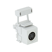 Leviton White QuickPort Snap-In S-Video Connector 40734-SVW