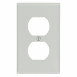 Leviton Gray 1 Gang Duplex Receptacle Plate 87003-GY