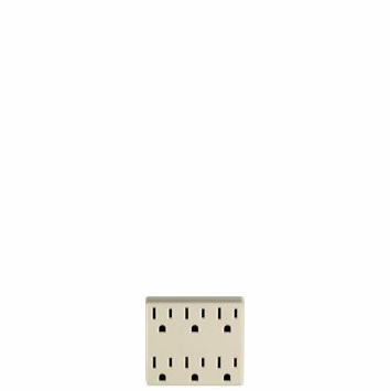 Leviton 6-Outlet Grounding Adapter L01-6ADPT-W
