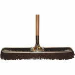 "Bruske 23"" Brown Coarse Bristle Broom W/ Wood Handle (Pack of 12) 2174"