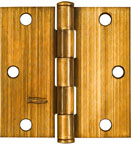 National Door Hinges Square Full Mortise 3-1/2 (2) 176636 (Pack of 5)
