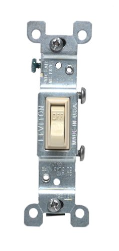 Leviton 15 Amp Ivory Single Pole Grounding Switch 1451-2IS