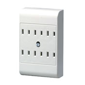 Leviton 6 Outlet Tap White 2 Wire 49687-00W