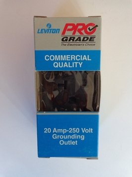 Leviton Brown Commercial Single Outlet Receptacle 20A 250V 5821-SP