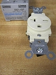 Leviton Ivory Commercial Single Outlet Receptacle 20A 250V 5821-ISP