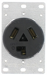 Leviton 30 Amp Flush Dryer Outlet 800-5207