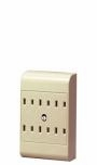 Leviton 6 Outlet Tap Ivory 2 Wire 49687-00I