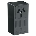 Leviton Black 3-Wire 10-50R Surface Mount Receptacle Industrial 5050