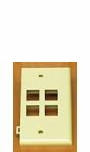 Leviton QuickPort Sectional Wallplate 4-port White 40814