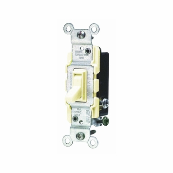 Leviton 15 Amp Brown 3-Way Toggle Quiet Switch 1453-SP