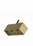 Leviton Ivory 2 to 3 Wire Tri Tap Outlet Adapter 002-698-I