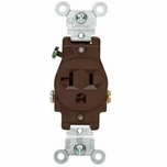 Leviton Brown 20 Amp Single Outlet 2-Pole 3-Wire Grounding Outlet 5801-SP