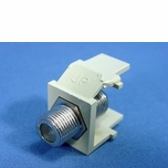 Leviton Ivory Quickport F-Type Coaxial Cable Jack 75-Ohm 41084-FIF