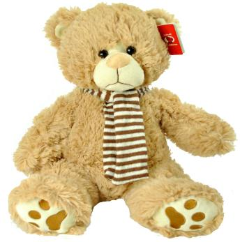 "#D18- 12015BE- 15"" TEDDY BEAR WITH SCARF"