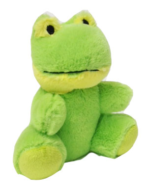 "#W52F-20007FG, 6.5"" FROG WITH EMBROIDERY EYES"