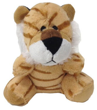 "#W52-20007TI, 6.5"" TIGER WITH EMBROIDERY EYES"