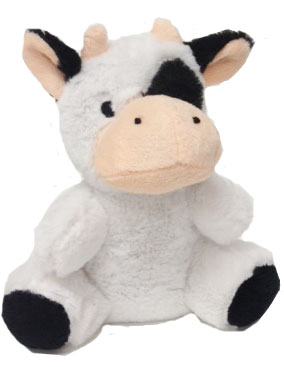 """#SF1-6.5"""" STUFFED COW WITH EMBROIDERY EYES"""