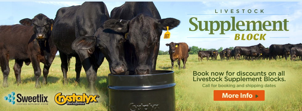 Sweetlix & Crystalyx Livestock Supplements & Blocks
