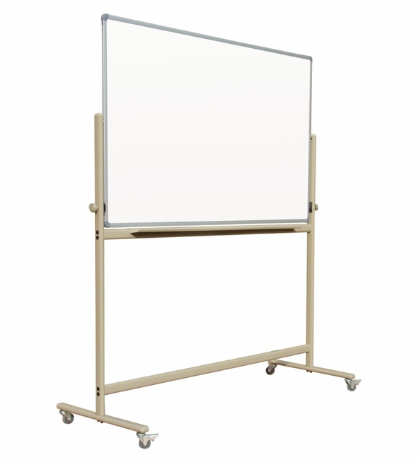 "Reversible Mobile Free Standing Magnetic Dry Erase Board Whiteboard 4' x 5' | Double-Sided Magnetic White Markerboard surface 48"" x 60"""