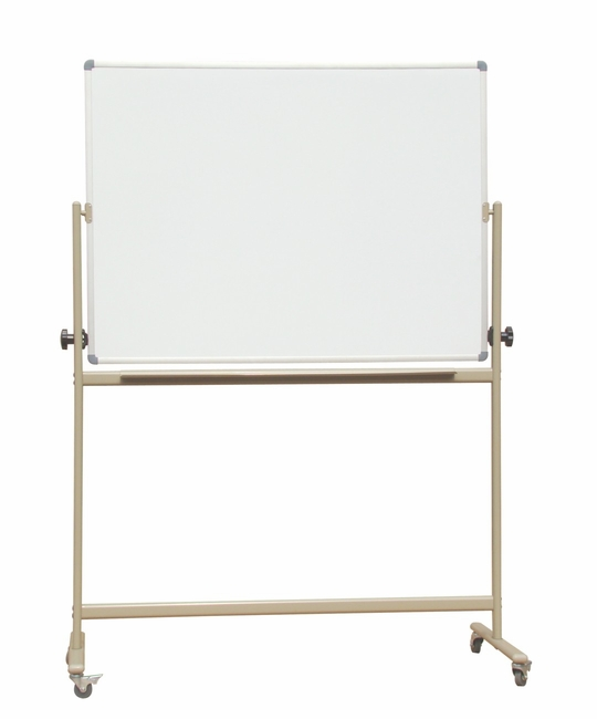 "Reversible Mobile Projectionable-Magnetic Free Standing Porcelain on Steel Dry Erase Whiteboard surface Double-Sided 36"" x 45"""