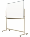 """Reversible Mobile Free Standing Magnetic Dry Erase Board Whiteboard  Double-Sided Magnetic White Markerboard surface 36"""" x 45"""""""