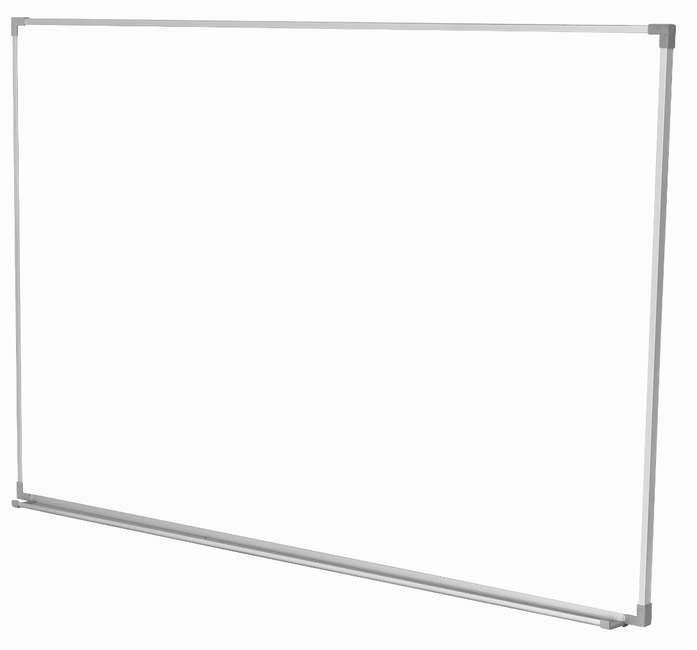 "Projectionable Magnetic Porcelain Steel Dry Erase Whiteboard with Satin Finished, Anodized Aluminum Frame and Tray 36"" x 45"""