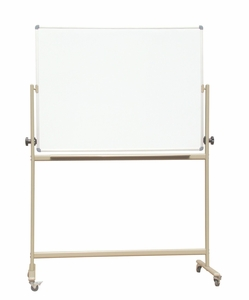 """Reversible Mobile Projectionable-Magnetic Free Standing Porcelain on Steel Dry Erase Whiteboard surface Double-Sided 48"""" x 60"""" (4' x 5')"""