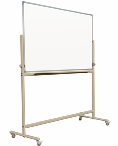 """Mobile Reversible Free Standing Magnetic Dry Erase Board Whiteboard 4' x 5' 