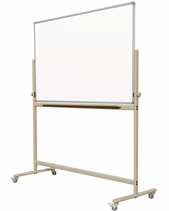 """Mobile Reversible Free Standing Magnetic Dry Erase Board Whiteboard  Double-Sided Magnetic White Markerboard surface 36"""" x 45"""""""