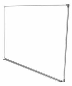 """Projectionable Magnetic Porcelain Steel Dry Erase Whiteboard with Satin Finished, Anodized Aluminum Frame and Tray 36"""" x 45"""""""