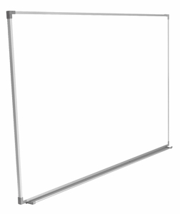 """Projectionable Magnetic Porcelain Steel Dry Erase Whiteboard with Satin Finished, Anodized Aluminum Frame and Tray 48"""" x 60"""" (4' x 5')"""
